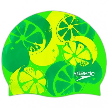Slogan Print Cap Speedo - Lemon
