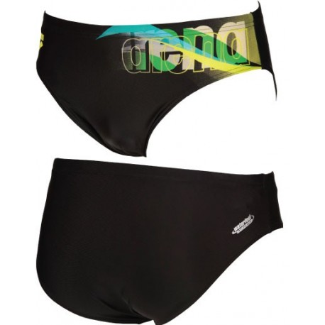 M Fogo Brief ARENA - Black/Soft_Green