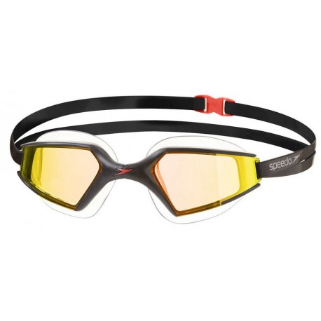 Black/Gold Occhialini nuoto Aquapulse Max Specchiati 2 Speedo