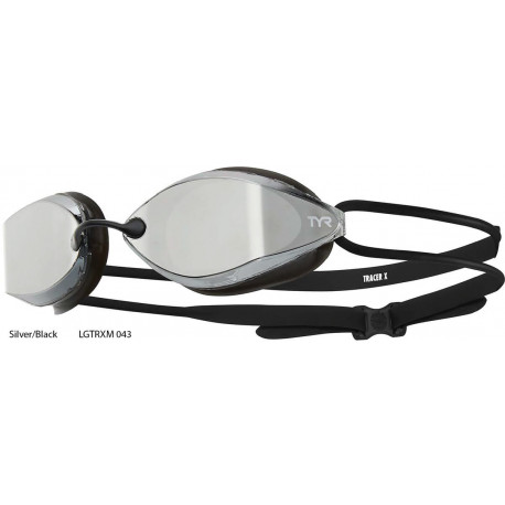 Silver/Black - TYR Tracer-X Racing Mirrored goggles