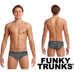 Costume Slip Colorato FUNKY TRUNKS Black Widow