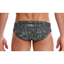 Visione posteriore del Black Widow Brief Funky Trunks