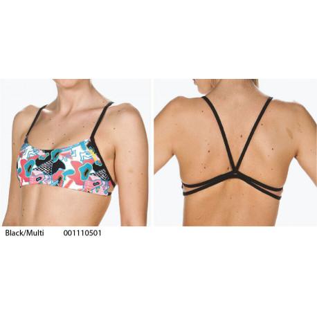 Black/Multi - PLAY Top bikini Arena - collezione 2019