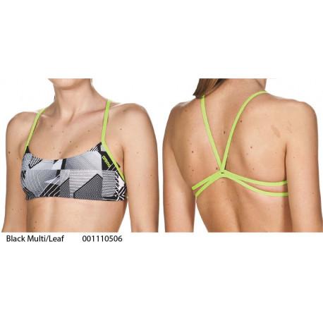 Black Multi/Leaf - PLAY Top bikini Arena - collezione 2019