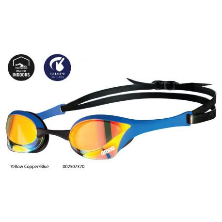 Yellow Copper/Blue - Occhialini Cobra Ultra Swipe Mirror Arena