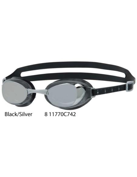 Black/Silver - Aquapure Mirror IQfit Goggle