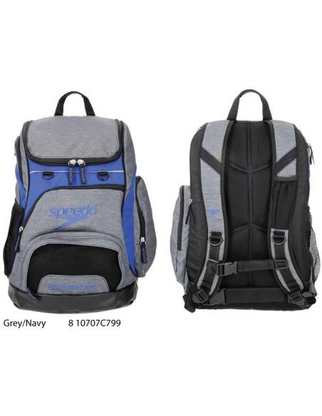 Gray/Navy - T-Kit Teamster Backpack 35 litri Speedo