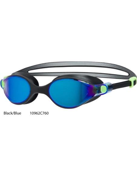Black/Blue - Occhialini Speedo Virtue Mirror