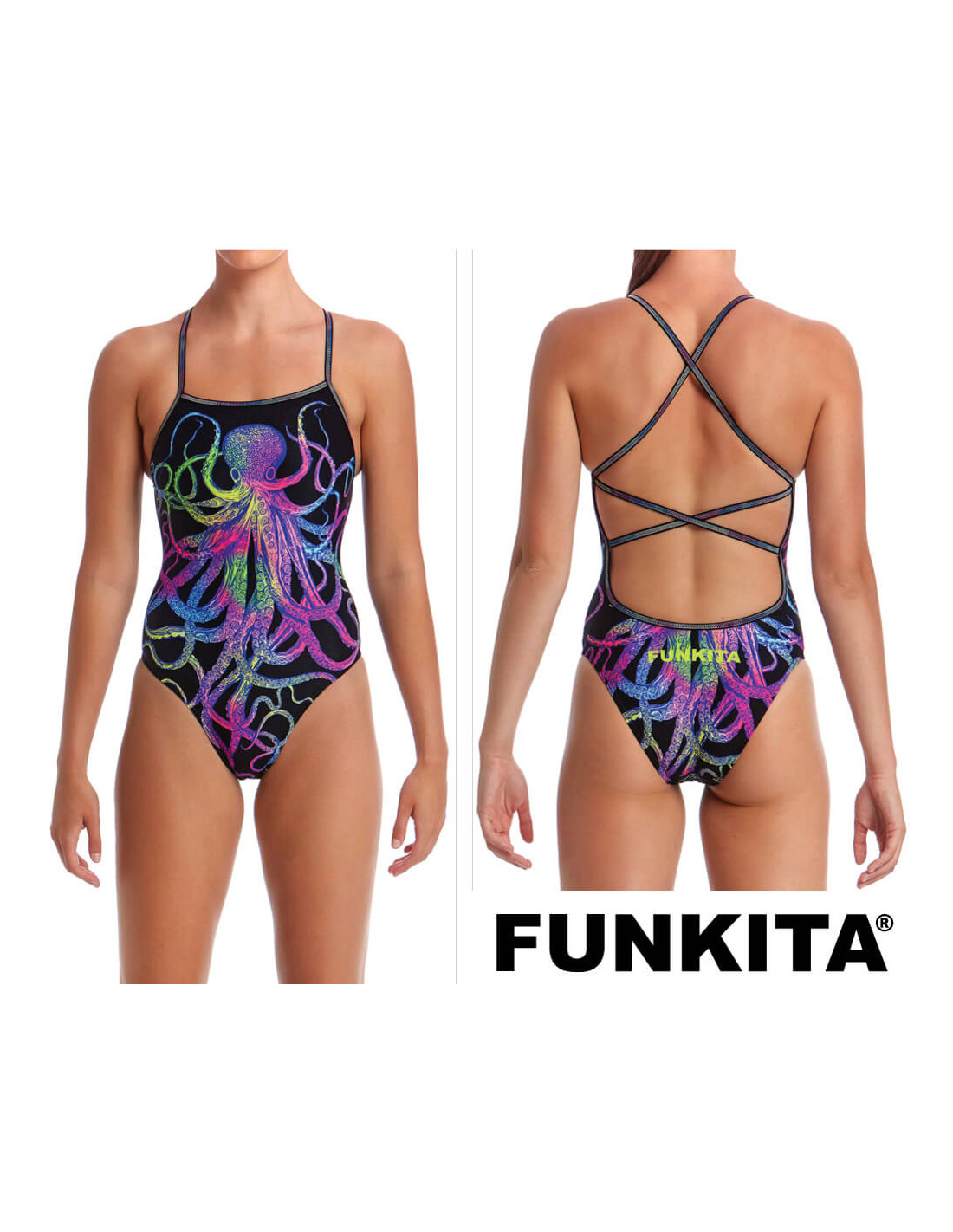 Funkita Womens Octopussy Chlorine Resistant and UV Protection 50+