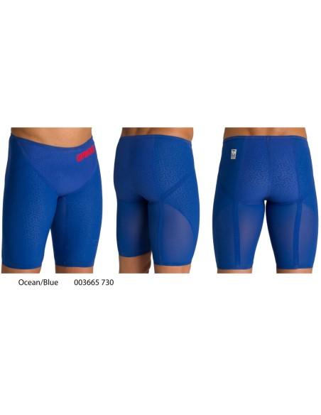 Ocean/Blue - Arena Powerskin Carbon Glide Jammer