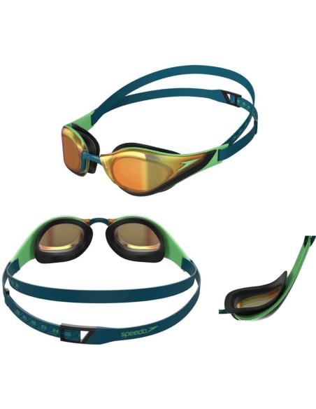 Particolari occhialini Speedo Pure Focus Mirror green/gold (verde/oro)