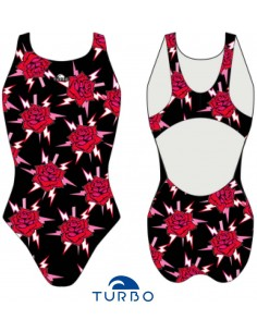 Costume donna Wide Strap Wave Roses Turbo