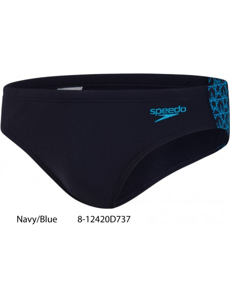 Navy/Blue - Speedo BoomStar Splice 7cm Brief