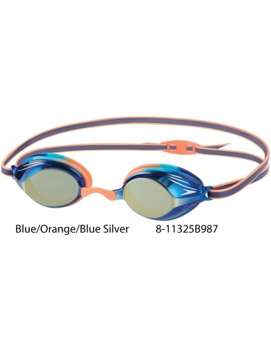 Blue/Orange/Blue Silver - Speedo Vengeance Junior Mirror Goggle