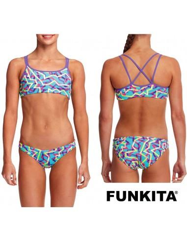 Funkita Mint Strips Criss Cross Two Piece
