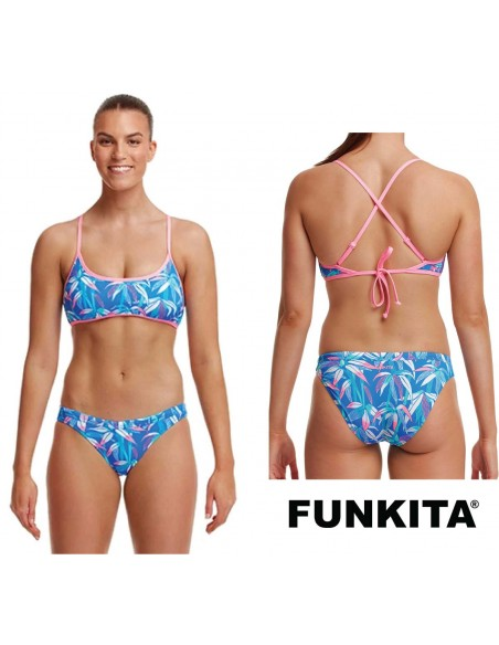Funkita BooBam Blue Cross Back Two Piece