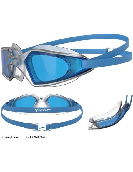 Clear/Blue - Speedo Hydropulse Goggles