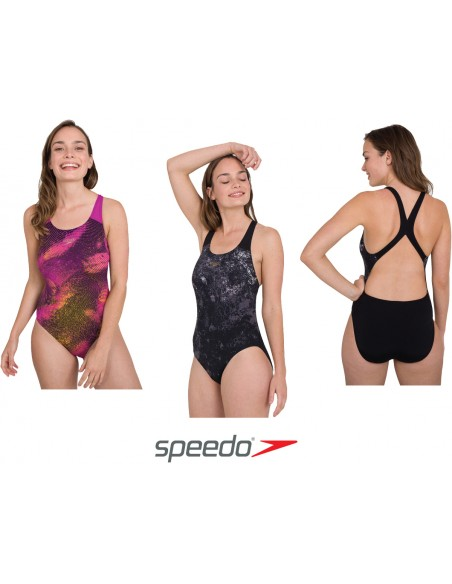 Speedo Placement Powerback Swimsuit