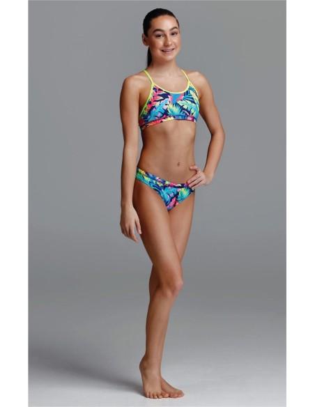 Model wearing Funkita swim suit