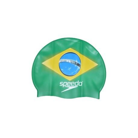 BRASILE - National Flag Silicone Cap Speedo