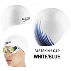 White/Blue - Cuffia Fastskin3 Speedo