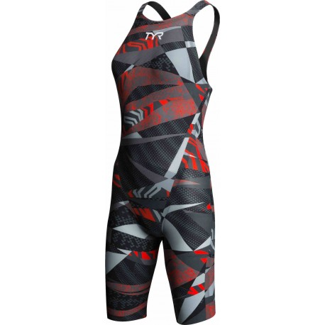 Grey/Red anteriore - Avictor Prelude Open Back TYR
