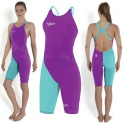Purple/Blue - Fastskin LZR Racer Elite 2 Kneeskin 2016 Speedo