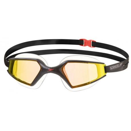 Black/Gold - Occhialini nuoto Aquapulse Max Specchiati 2 Speedo