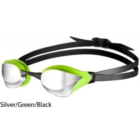 Silver Green - Swimming goggles Arena Cobra Ultra Mirror