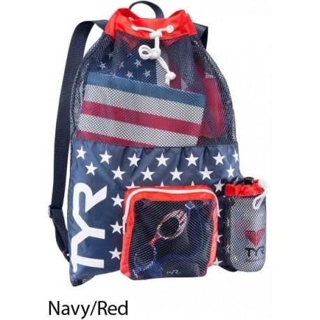 Navy/Red - Big Mesh Mummy Bag Tyr