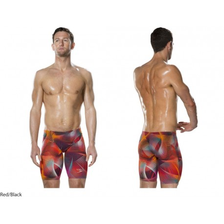 Red/Black - Fastskin LZR Racer Elite 2 Jammer Speedo 2017