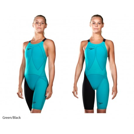 Green/Black - Fastskin LZR Racer Elite 2 Kneeskin Speedo 2017