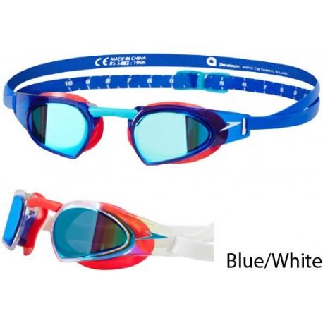 Blue/White - Speedo Fastskin Prime Mirror Goggle