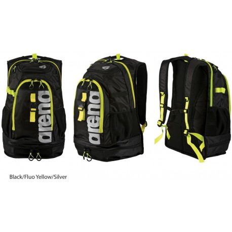 Black/Fluo Yellow/Silver - Arena Fastpack 2.1