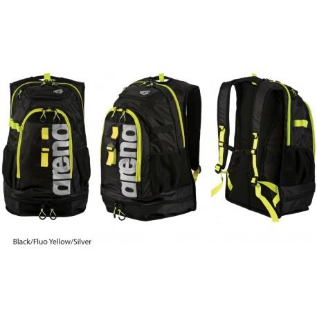 Black/Fluo Yellow/Silver - Zaino Arena Fastpack 2.1