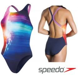 Women's Solarvision Placement Digital Powerback Swimsuit Speedo