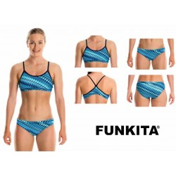 Front - Funkita Racerback Two Piece Static Blur