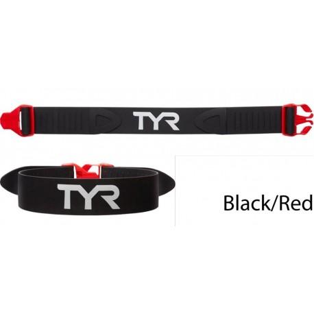 nero/rosso - cintura allenamento nuoto frenato TYR