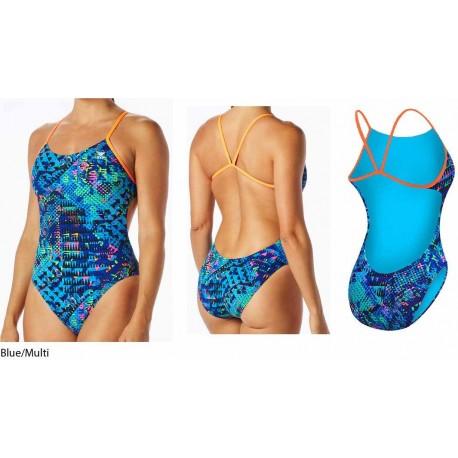 Blue/Multi - Machu Cutoutfit costume nuoto donna TYR
