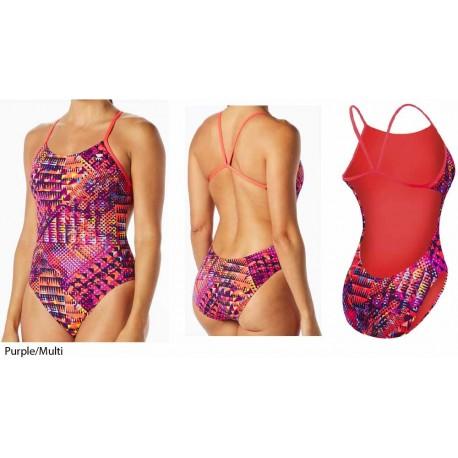 Purple/Multi - Machu Cutoutfit costume nuoto donna TYR