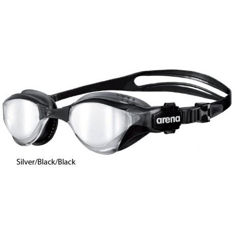 Silver/Black/Black - Cobra Tri Mirror Arena
