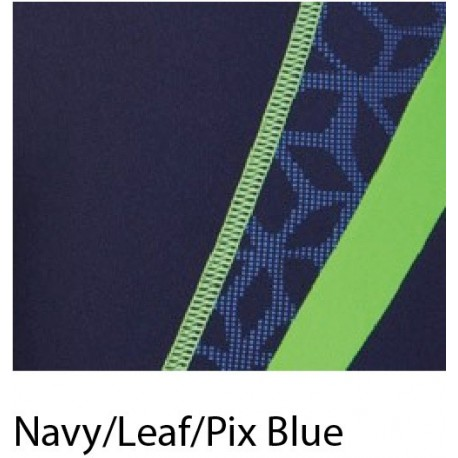 Navy/Leaf/Pix Blue - Costume Uomo Microcarbonite Arena