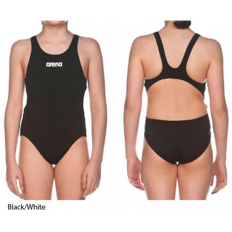 Black/White - Swim Tech Solid Girl Arena