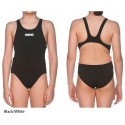 Black/White - Costume Intero Bambina Swim Tech Solid Arena
