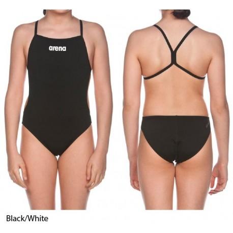 Black/White - Swim Lightech Solid Girl Arena