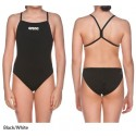 Black/White - Swim Lightech Solid Girl Arena