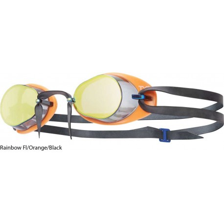 Tyr Socket rockets 2.0 Mirrired Goggles - Rainbow Fl./Orange/Black