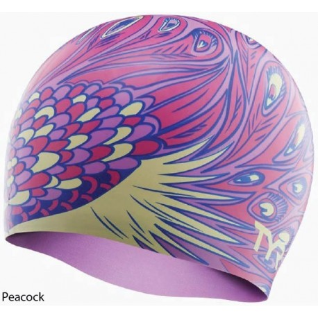Peacock - Silicone Swim Cap Tyr