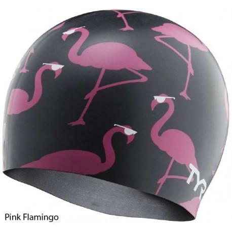 Pink Flamingo - Silicone Swim Cap Tyr