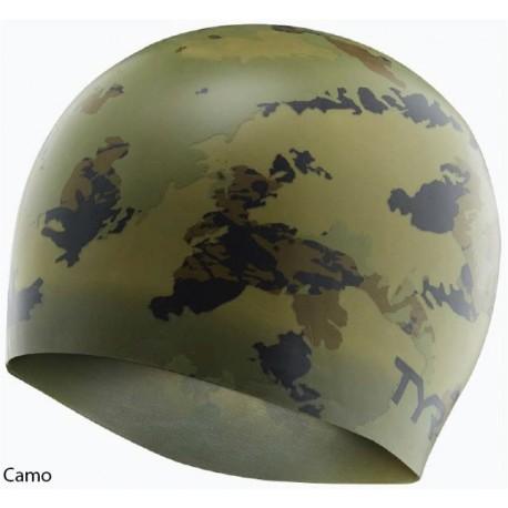 Camo - Silicone Swim Cap Tyr